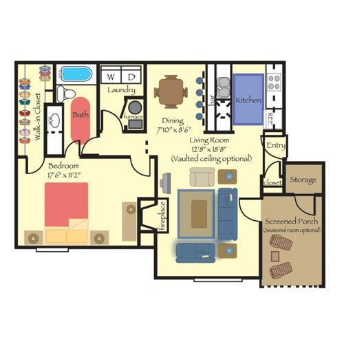 1 BD 1 BA in Durham for $740