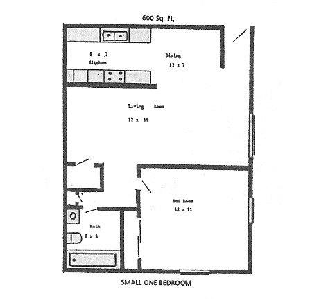 bedroom 1 bath 600 550
