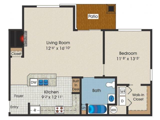 1 Bedroom 1 Bath 811 Sq Ft At Trexler Park Apartments