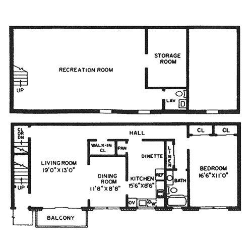 One Bedroom w/ Basement