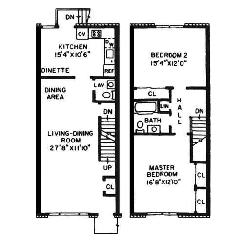Two Bed Duplex w/Basement