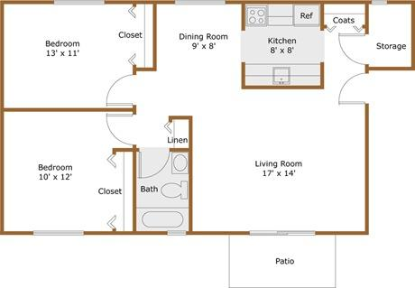 2br 840 Alpine Apartment For Rent At Pine Valley