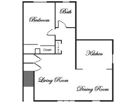 bedroom 1 bath 720 845
