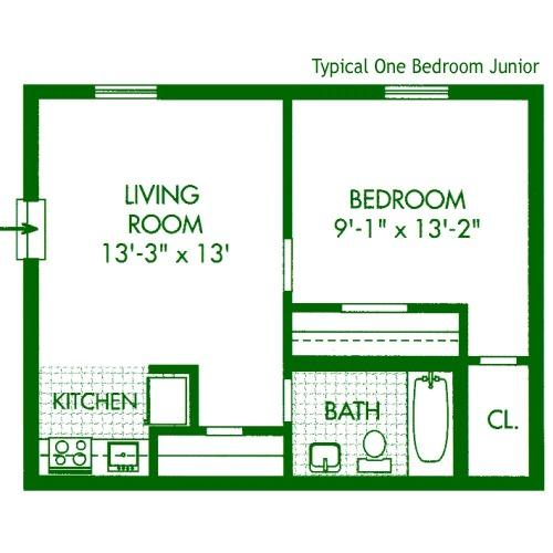 One Bedroom Junior At Cedar Tree Apartments 2512 Cedar Tree Dr 2d Wilmington De Apartment