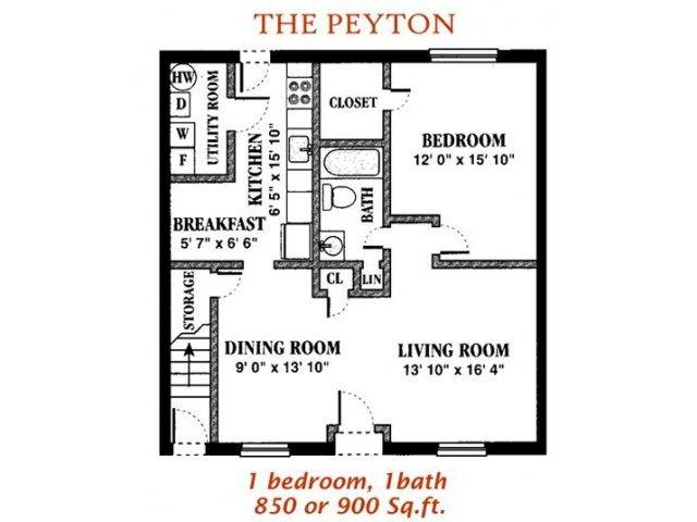 The peyton found at holly point apartments 2540 holly 850 sq ft