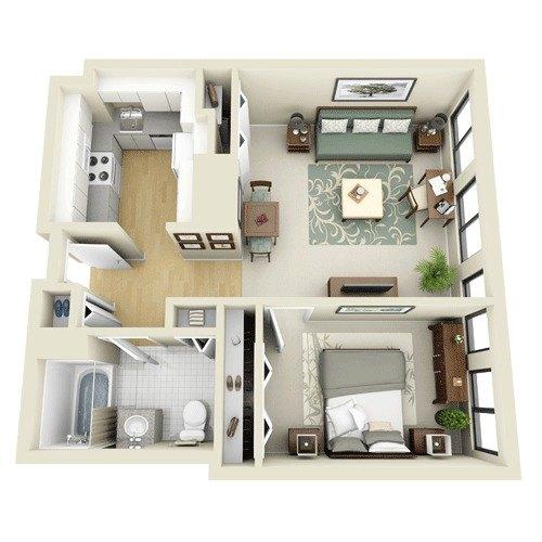 1c At The Greenhouse Apartments 150 Huntington Avenue