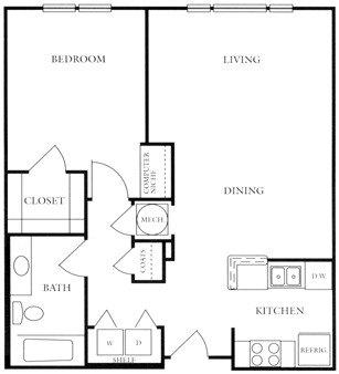 bedroom 1 bath 748 1 280