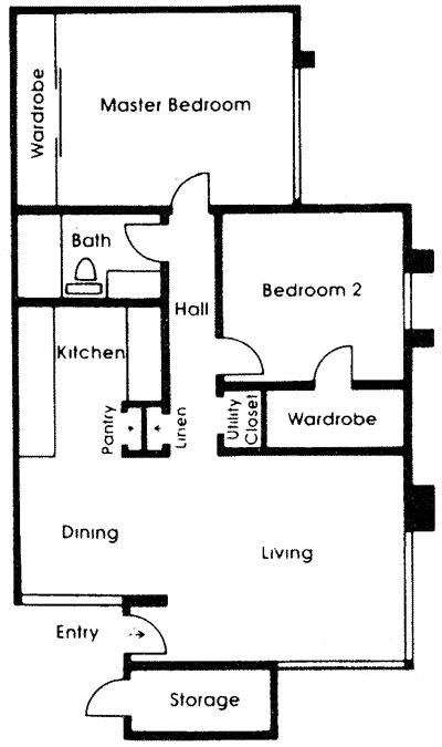 Spacious floor plan apartment for rent at brookside for Floor plans 900 sq ft apartment