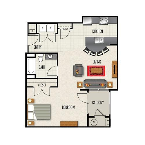 1 BD 1 BA in Durham for $1035