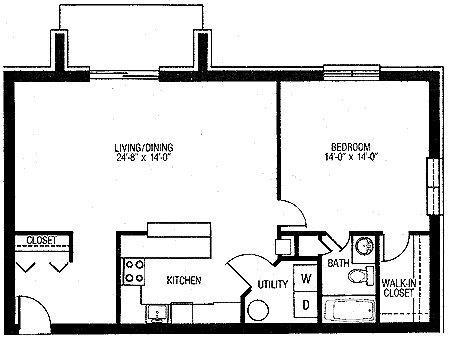 One Bedroom Rear