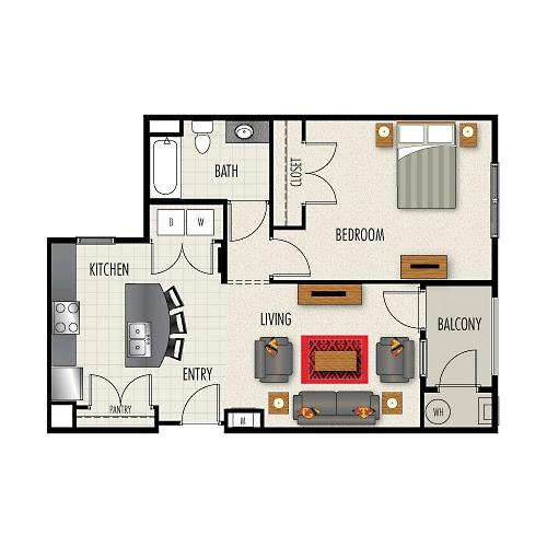 2 BD 2 BA in Durham for $1380