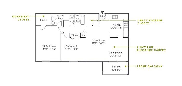 2 Bedroom High-Rise A