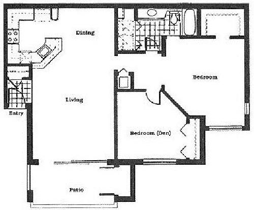 2 Bedroom 1 Bath 1220 1 111