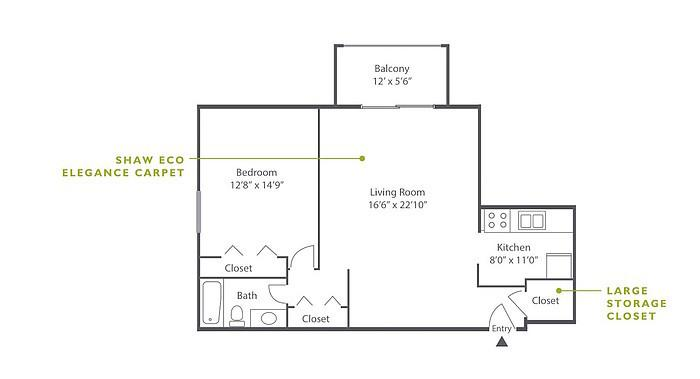 1 Bedroom High-Rise A