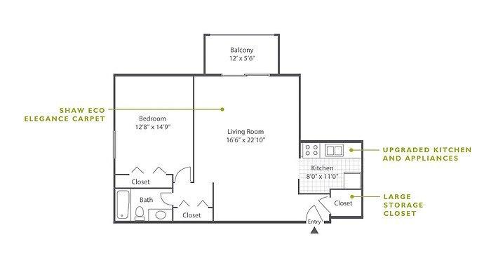 1 Bedroom High-Rise B