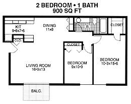 Two bedroom apartment d plan apartment for rent at river for 900 sq ft apartment floor plan