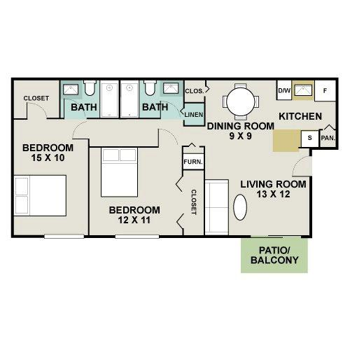 Hampden Heights Apartments, DENVER. Apartment For Rent