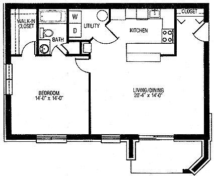 One Bedroom Front