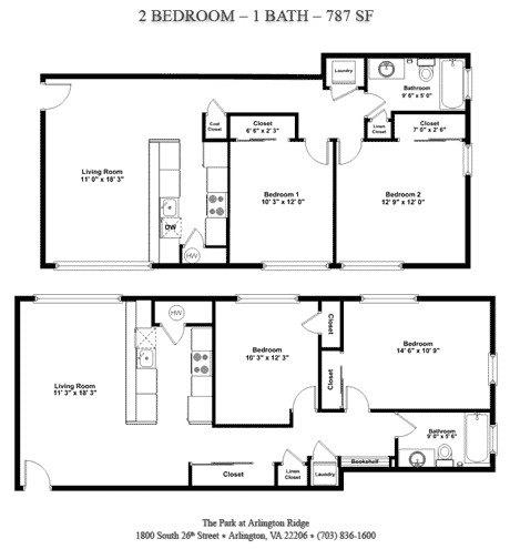 2 Br 1 Ba Apartment For Rent At The Park At Arlington Ridge 1800 26th Street South Arlington