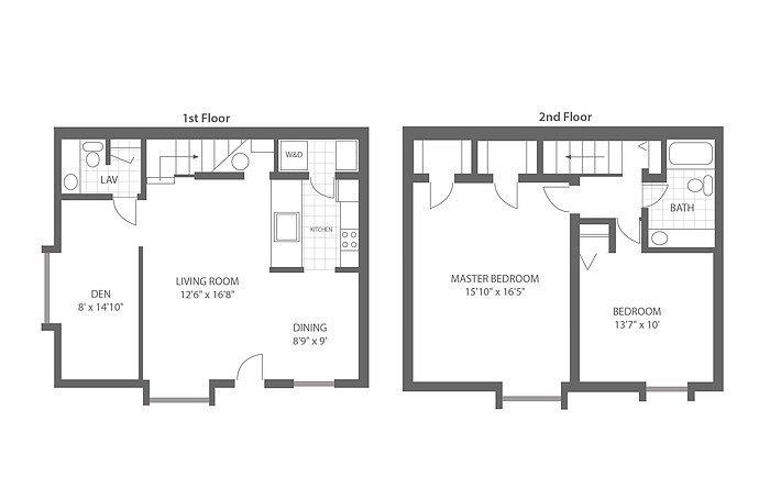 Two Bedroom w/Den