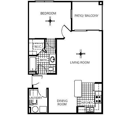 1 bedroom 1 bath 793 1 235 for 1235 s prairie floor plans