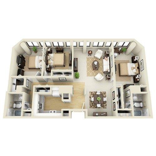 3E Situated At The Greenhouse Apartments 150 Huntington Avenue BOSTON MA