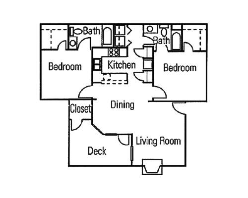 2 Bedroom / 2 Bath