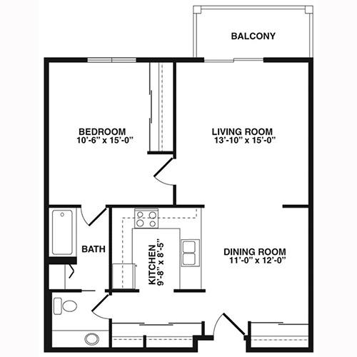 cutters grove estates  anoka  apartment for rent