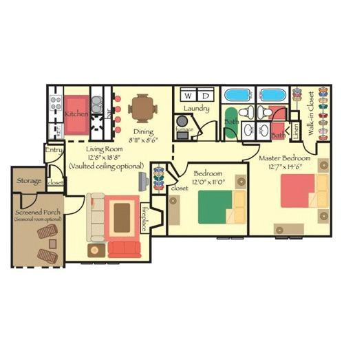 2 BD 2 BA in Durham for $860