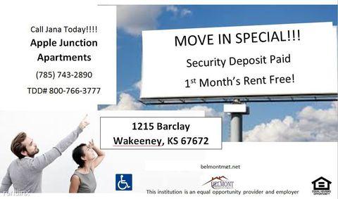 1215 Barclay Ave, Wakeeney, KS 67672