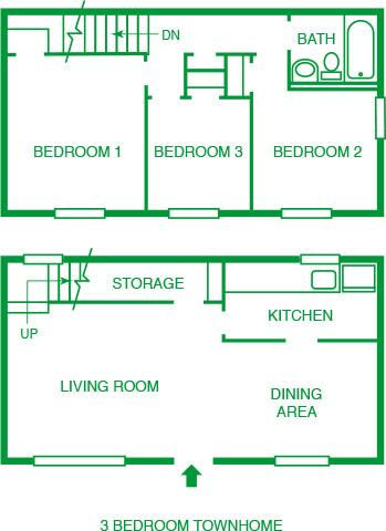 3 Bed Townhome