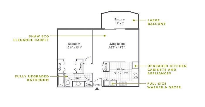 1 Bedroom High-Rise C