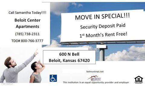 600 N Bell St, Beloit, KS 67420